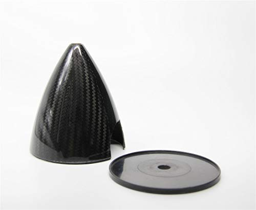 1 pieceCarbon Fiber Spinner Cone Slotted 3.25 inch 82.55mm Carbon Fiber Spinner 2 Blades for Gas RC Airplane Model CW Tractor Prop (3.25)