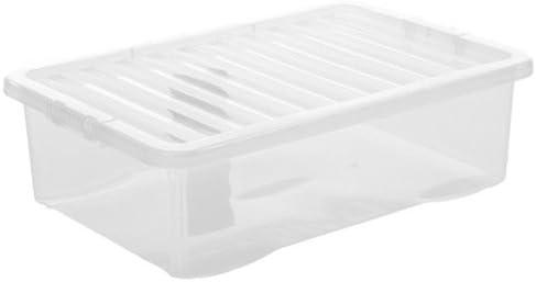 OC ORDEN EN CASA Y MUCHO MAS Caja Crystal 32L, plástico Transparente (Material: Plástico. Medidas: 60x40x18cm. Color: Transparente.)