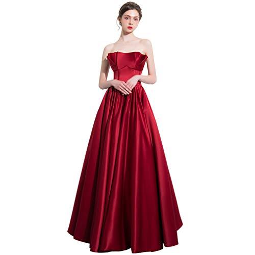 Banchetto Vintage Rosso Drohe Nozze Abito Cocktail Sera q Elegante Da Maxi Donne Lungo vv17wYr