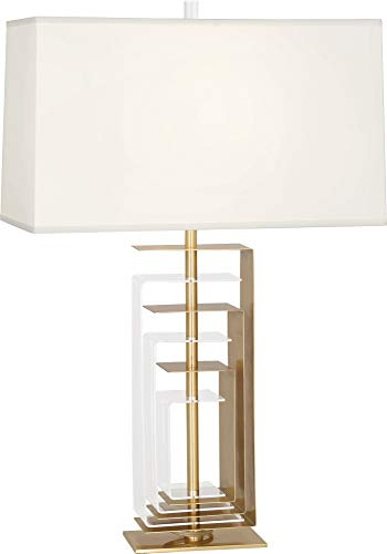 Robert Abbey Braxton Modern Brass and Acrylic Table Lamp ()