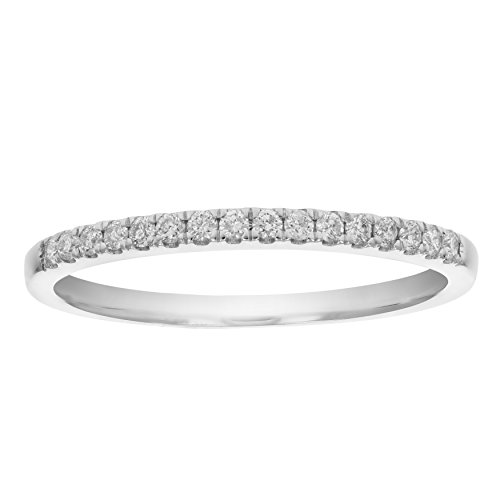 1/5 CT AGS Certified I1-I2 Diamond Wedding Band in 14K White Gold Size 9