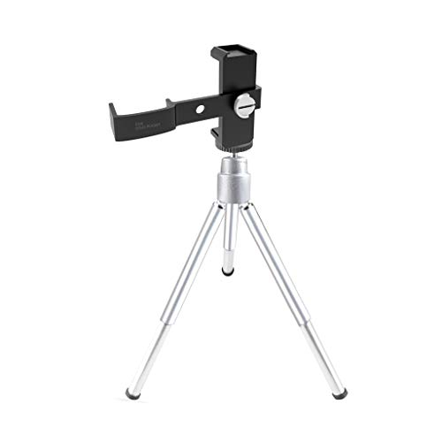 Tripod Stand Holder Handheld Gimbal Stand for DJI Osmo Pocket [All-aluminum CNC Engraving] DJI Osmo Pocket Accessories, Fits 60-90mm width Mobile Phone (Silver) from TLT Retail