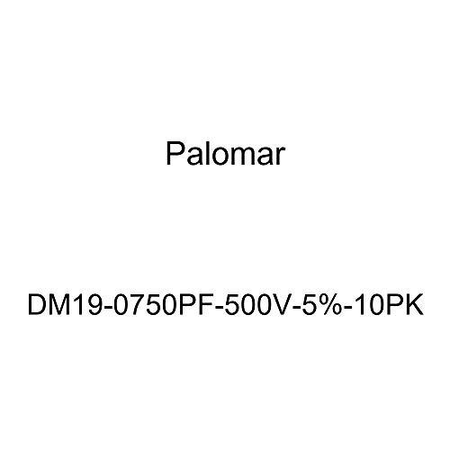 (Palomar DM19-0750PF-500V-5%-10PK Dipped Silver Mica Capacitor (DM19 Size, 750pF, 500V, +/-5%), 10)