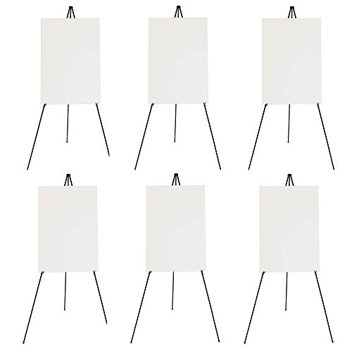 Laforel - 6 Premium Quality Easy Folding Easels Complete with Hook and Loop Straps for Easy Portability (Hook Easel)