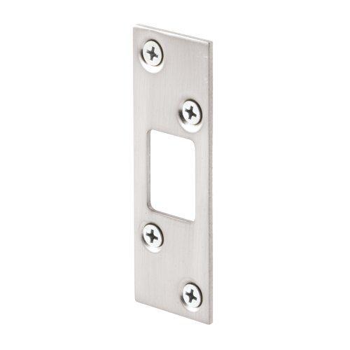 Lock Plate Strike (Prime-Line Products E 2461 Prime-Line High Security Strike, for Use with Most Entry Door Deadbolts, Steel, Satin Nickel)