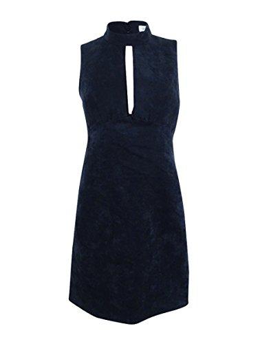 BCBGeneration Women's Faux Suede Shift Dress, Black, 8