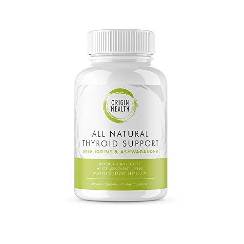 Thyroid Support Supplement with Iodine – Metabolism, Energy and Focus Formula – Vegetarian & Non-GMO – Vitamin B12 Complex, Zinc, Selenium, Ashwagandha – 60ct.