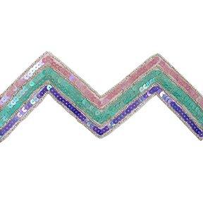 3 1/8in Chevron Sequin Trim Lavender Multi (Precut 5 Yard) by 5631 Braxton Drive