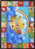 Joy Carpets Kid Essentials Inspirational Noah's Alphabet Animals Area Rug, Multicolored, 3'10
