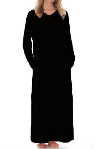 Urban MuuMuu Women's Standard Muu Muu Long, Black, One Size