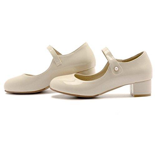 Coolcept Zapatos de Tacon Ancho para Mujer apricot