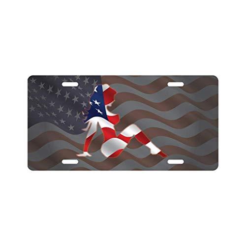 Mud Flag Flap American (LOHIGHH Mud Flap Girl License Plate American Flag Novelty Tag)