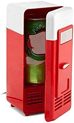 Hihey Mini Cool Box Mini Refrigerador USB Gadget Latas de Bebida ...