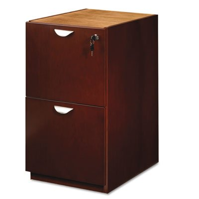 Mira Series File/File Desk Pedestal, 15w x 28d x 27?h, Medium Cherry, Sold as 1 Each