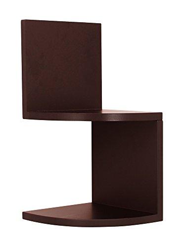 nexxt Priva Conjunto de 2estantes esquineros, Negro, 1