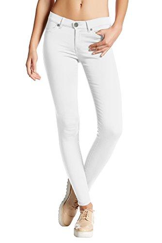 Womens Super Stretch Comfy Skinny pants P44876SKX WHITE 1X
