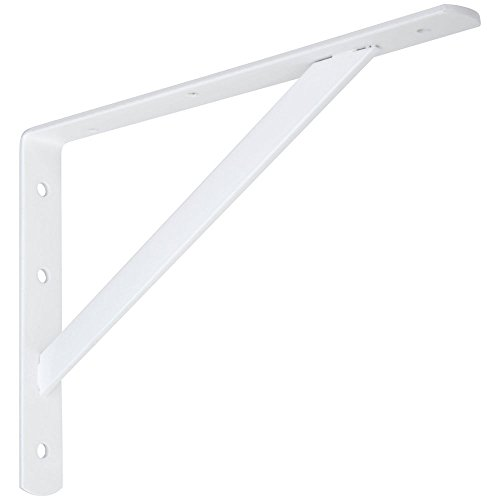 National Hardware N301-630 111BC Super Strength Shelf Bracket in White by National Hardware