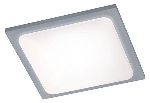 Trio Leuchten LED-Aussen-Deckenleuchte Trave Aluminiumguss, titanfarbig, Acryl weiß 620160187
