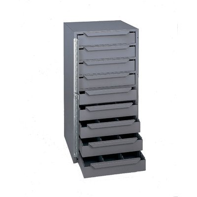 DURHAM 61195 Storage Cabinet, Steel, 9 Shelves, Locking Hing