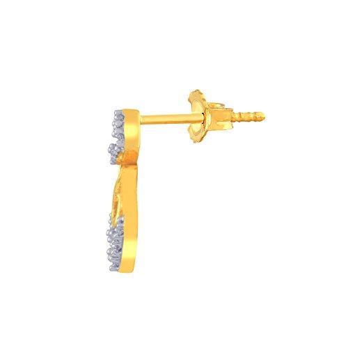 Giantti 14carats Diamant pour femme Dangler Boucles d'oreilles (0.2286CT, VS/Si-clarity, Gh-colour)