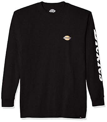 Dickies Mens WL469 Long Sleeve Logo Graphic Tee Long Sleeve T-Shirt - Black - 2X