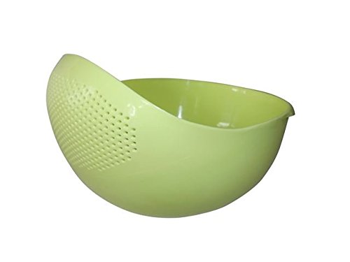 - Japanese 2.1Qt (2L) Design Rice Washer Strainer Colanders for Cleaning Vegetable, Fruit, Pasta (Small, Green)