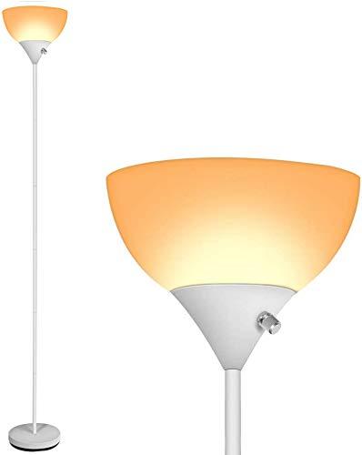 LED Floor Lamp - 3000K Standing Lamps, 9W Energy Saving, 40,000 Long Lifespan, Warm White Eye-Friendly, Torchiere Floor Lamps for Bedrooms, Lamps for Living Room, Reading and Working