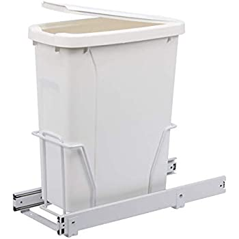 W x 16 in Knape /& Vogt RS-PSW15-1-20-P 17 in D Steel in-Cabinet 20 Qt Single Platinum Pull Out Trash Can H x 14 in