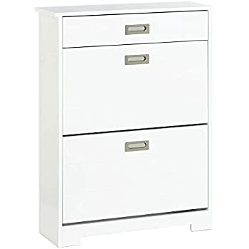 Amazon.com: IKEA Shoe Cabinet with 4 compartments, White 37 ...