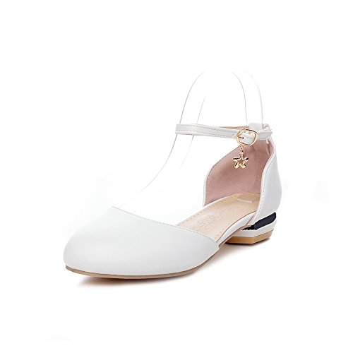 Blanc Sandales Blanc 5 SLC04226 Compensées EU Femme 36 AdeeSu qTwFpIxB