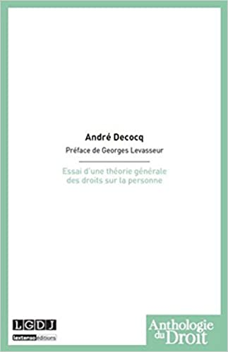 Livres gratuits en ligne Essai d'une théorie générale des droits sur la personne pdf