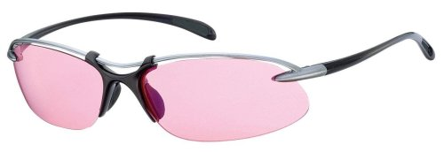 SWANS Airless-Wavesa Golf Sunglasses Pink lens with light silver and gun metal frame [MADE IN - In Japan Made Sunglasses