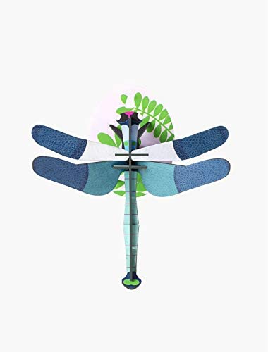 Studio Roof 3D Wall Decoration, Small Blue Dragonfly (IMA29)