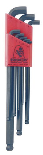 Bondhus 16599 Set of 9 Balldriver Stubby L-wrenches, sizes 1.5-10mm