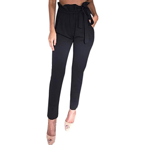 Pleated Blouse & High Waist Pants - 2