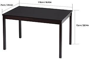 iKayaa - Conjunto de mesa de comedor de madera de pino, 5 piezas ...