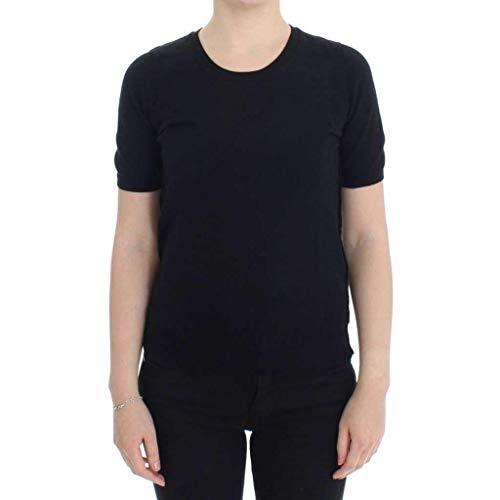 Dolce & Gabbana Black Crewneck Sweater T-Shirt