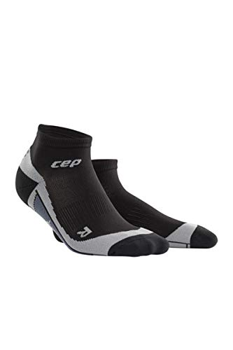 CEP Womens Ankle Compression Running Sock Low Cut (Black/Gray) III