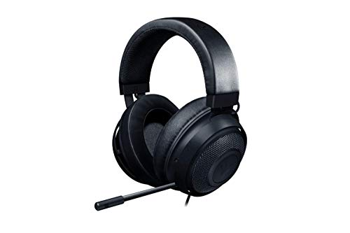 Razer Kraken Gaming Headset 2019 - [Matte Black]: Lightweight Aluminum Frame - Retractable Noise Cancelling Mic - for PC, Xbox, PS4, Nintendo Switch