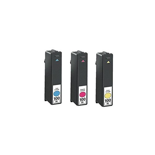 Generic 12 Pack Compatible Ink Cartridge Replacement for Lexmark 100XL BK 100XL C (3 piece large Black 3 piece Cyan 3 piece Magenta 3 piece Yellow) Photo #3