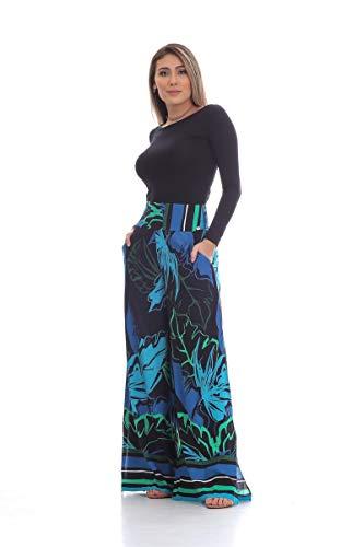 Calça Clara Arruda Pantalona 10045 - P - Grafite Azul