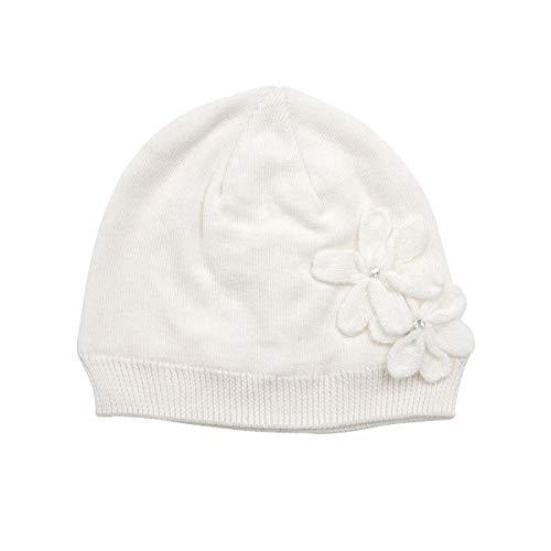(LLmoway Kids Beanie Baby Boys Girls Knit Hat Soft Cotton Warm Infant Skull Cap, White, 2-Ply, 0-6M)