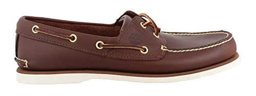 Timberland Men's Classic 2-Eye Boat Shoe Rubber Boat shoe,Dark Brown,13 W US (Timberland 2 Eye)