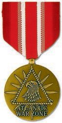 Atlantic War Zone Merchant Marine Medal (As Issued by the U.S. Government) by HMC