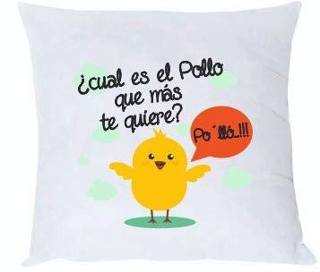 Misorpresa Cojin Frase Cual es el Pollo Que mas te Quiere ...