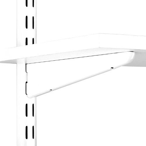John Sterling Dual Trak Adjustable Wood Shelf Bracket, 9-Inch, Warm White, 0122-9WT