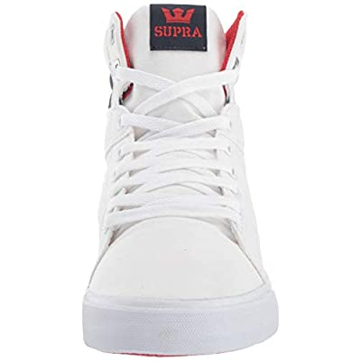 Supra Footwear - Aluminum High Top Skate Shoes, Navy/Star-White, 9.5 M US Women/8 M US Men: Clothing