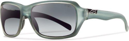 Smith Optics Brooklyn Sunglass, Matte Sky / Polarized Gray Gradient TLT - Sunglasses Brooklyn