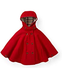 Girls' Wool Cape with Hood