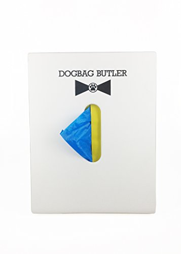 Image of dogbag BUTLER Pet Dog Waste Bag, White with Blue